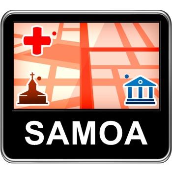 Samoa Vector Map - Travel Monster