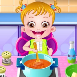 Baby Make Dinner Herself - for 2014 Holiday & Play With Rabbit