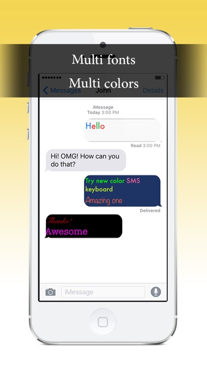 Color SMS keyboard - SwipeKeys