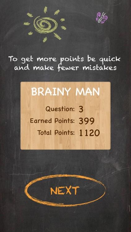 Brainy Man Hangman Crossword Game