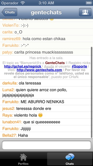 GenteChats Chat Gratis Screenshot