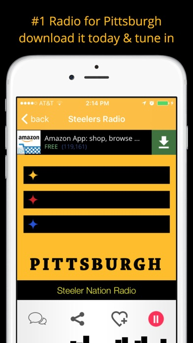 Pittsburgh GameDay Radio for Steelers Pirates Pens screenshot four
