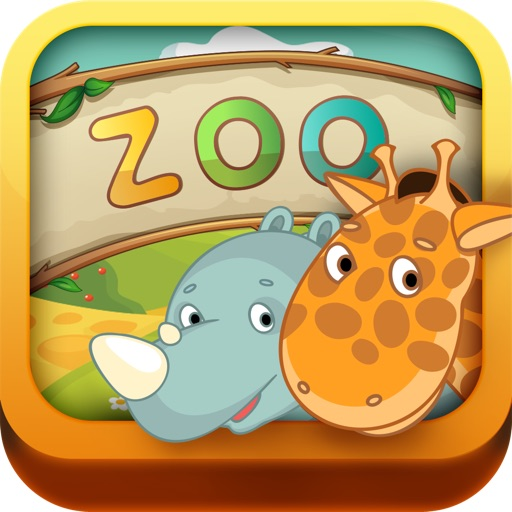 Kids: Zoo Animals HD - 3 in 1 Interactive Preschool Learning Game - Teach Toddler Real Sounds and Names of Wild Life, Jungle and Farm Pet Animal by ABC BABY icon