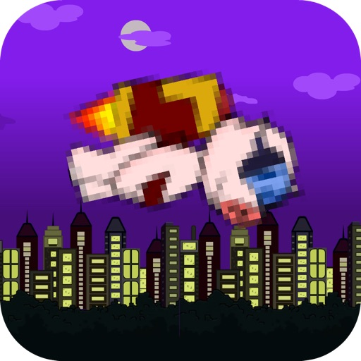 Mr. bouncy Jetpig space rocket flap flyer- a tiny bacon wings flappy pig