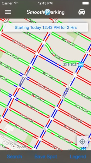 Street Parking Regulations Nyc Map.Smoothparking On The App Store