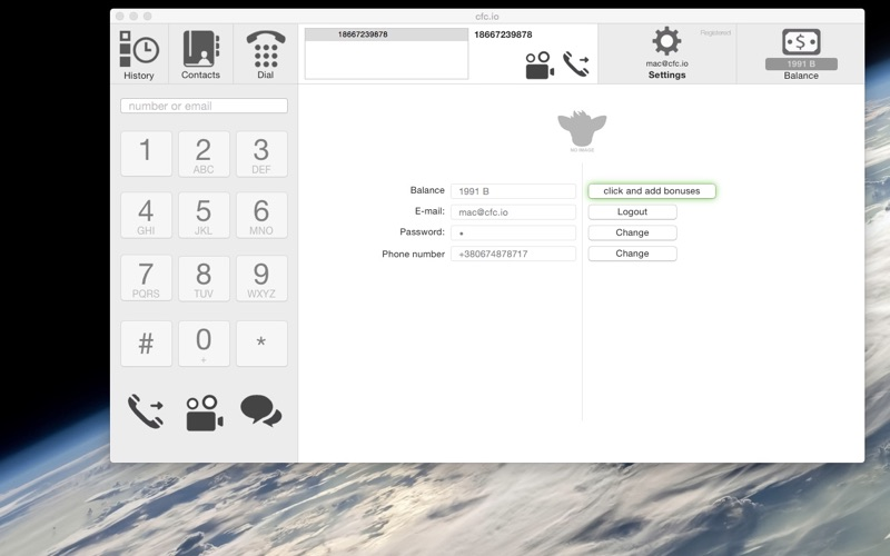 Free Phone Calls and SMS Texting with CFC io - virtual Sim-card app