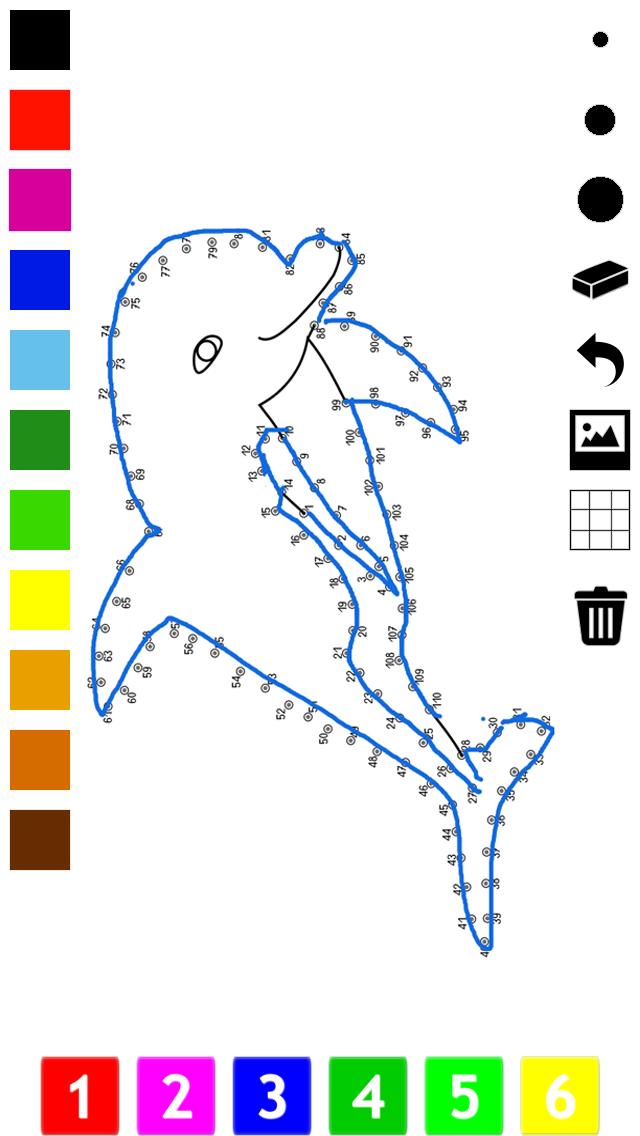 子どもたちのための番号でペイント。 塗り絵、動物、船舶、航空機およびそれ以上とドット、ゲームや演習を接続します。学ぶためのゲームやパズル、塗料や カウントのおすすめ画像1