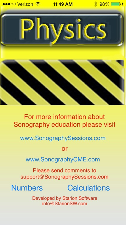 Sonograpy Cheat Sheet: Physics