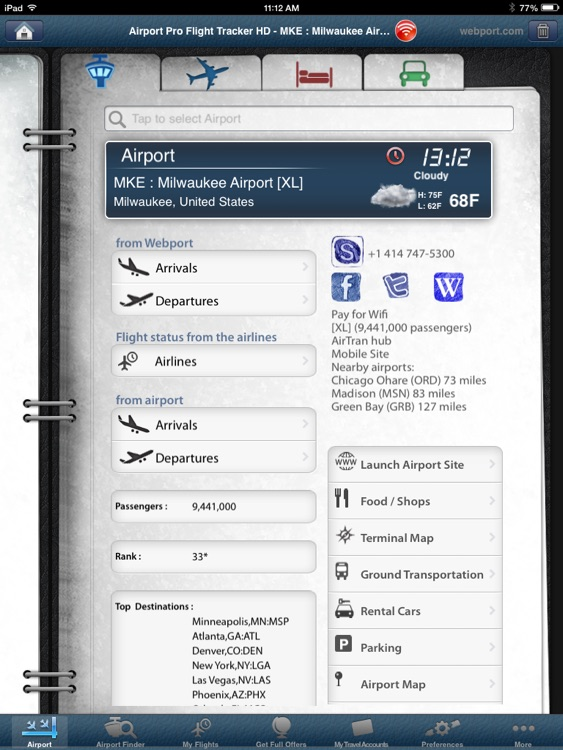 Milwaukee Airport Pro (MKE)+ Flight Tracker HD screenshot-2