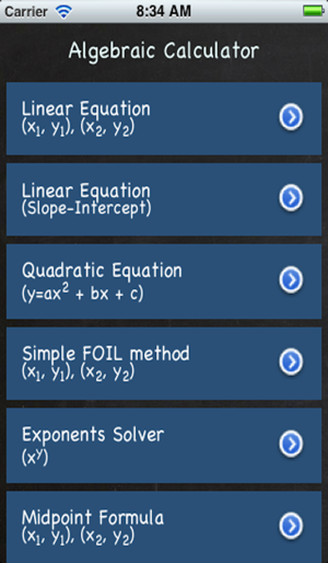 Algebraic Calculator on the App Store