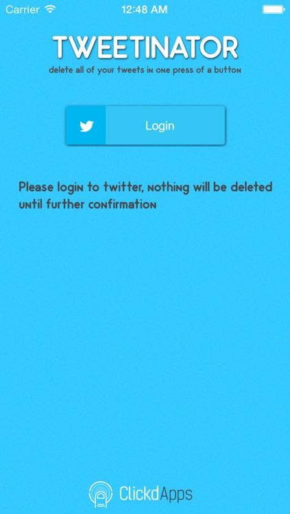 Tweetinator - Delete All of Your Twitter Tweets!