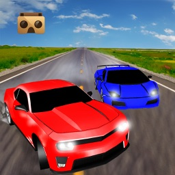 VR Highway Car Traffic Race 3D