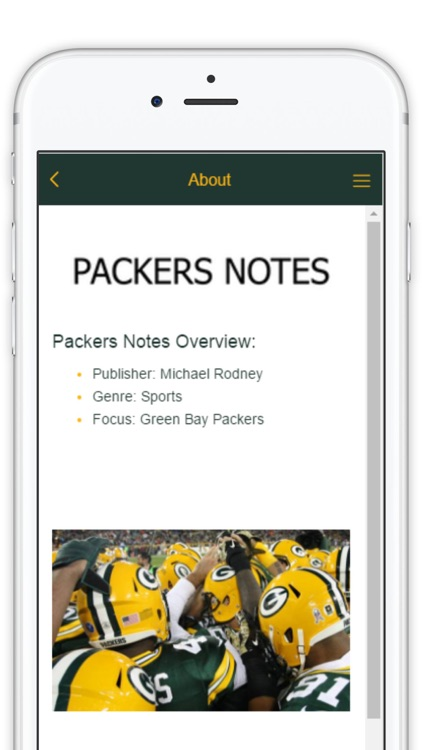 Official Mobile App of PackersNotes.com