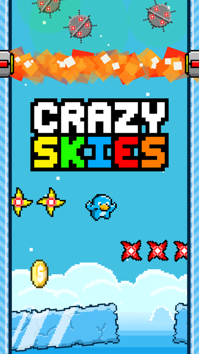 Crazy Skies - Endless Arcade Flyer