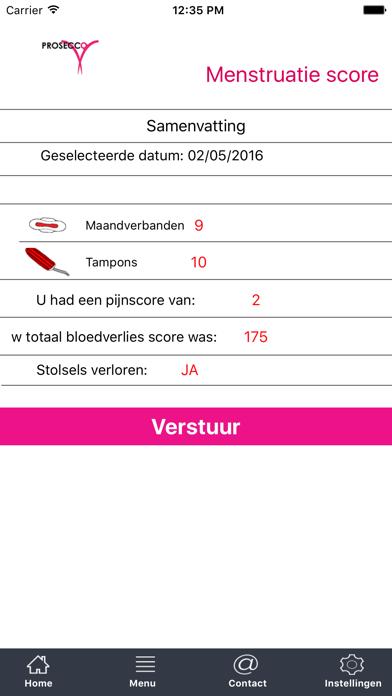 点击获取PROSECCO Trial menstruatie score