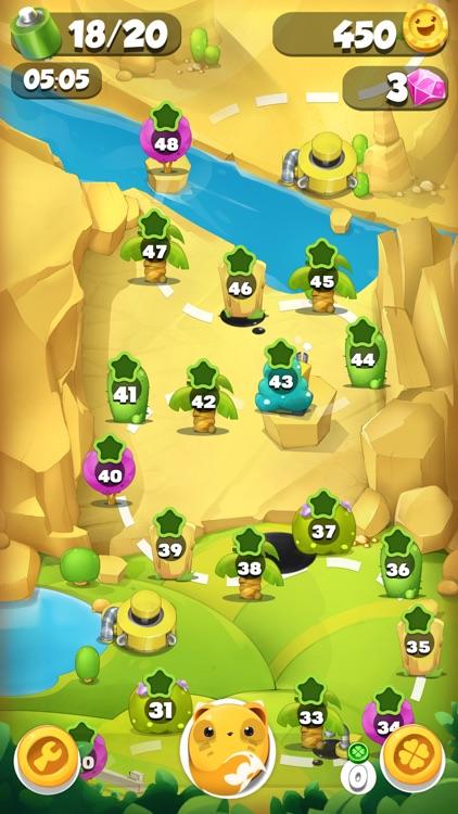 Pet Friends Line Match 3 Game: Cute Animals Adventure and Super Fun Rescue Story screenshot-3