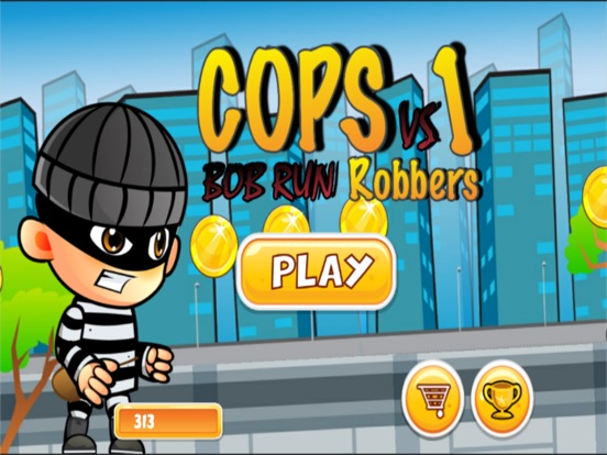 robber vs cops run adventure games-ipad-0