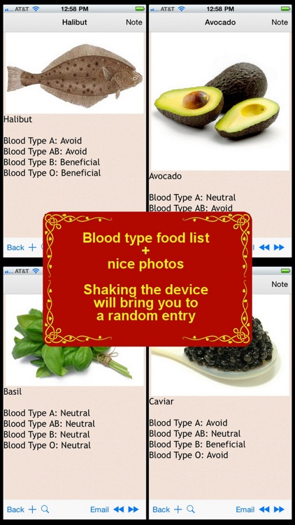 600+ Food List for your Blood Type