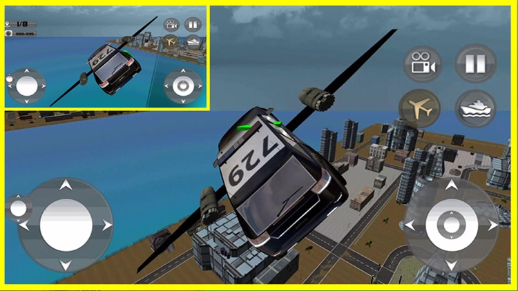 Floating Police Car Flying Cars – Futuristic Flying Cop Airborne flight Simulator FREE game screenshot-3