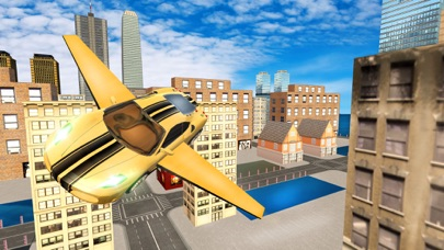 Futuristic Flying Car Drive 3D - Extreme Car Driving Simulator with Muscle Car & Airplane Flight Pilot FREEのおすすめ画像3