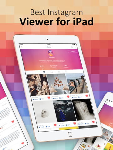 PadPics for Instagram - Free IG Photo & Videos Viewer for iPad screenshot one