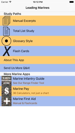 leading marines on the app store rh itunes apple com Police Study Guide Test Paper