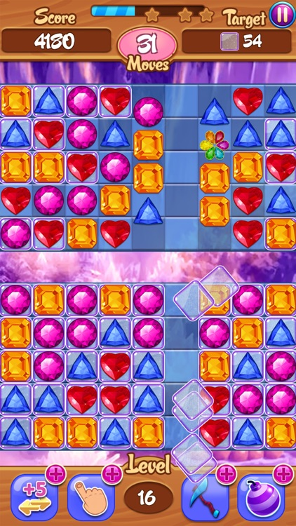 Crystal Insanity - Match 3 Diamond & Jewels Mania screenshot-3