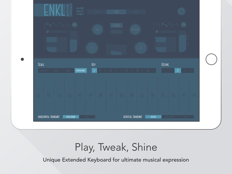 Enkl - monophonic synthesizer screenshot-1