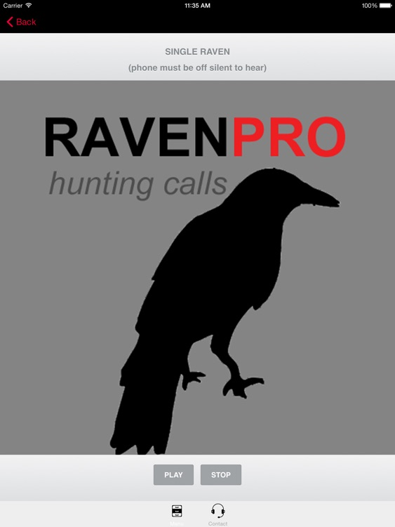 REAL Raven Hunting Calls - 7 REAL Raven CALLS & Raven Sounds! - Raven e-Caller &- BLUETOOTH COMPATIBLE screenshot-0
