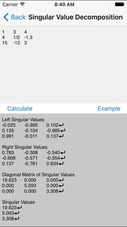 Matrix Calculators - Linear Algebra Toolkit screenshot-3