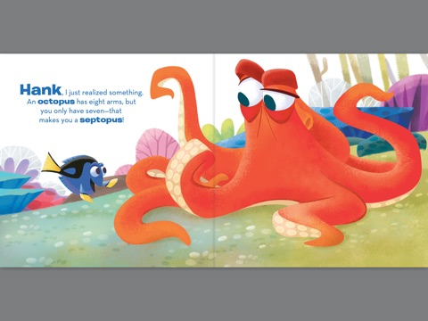 finding dory hank the septopus a disarming tale by disney book