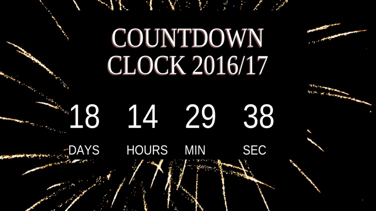 New Years Countdown Clock