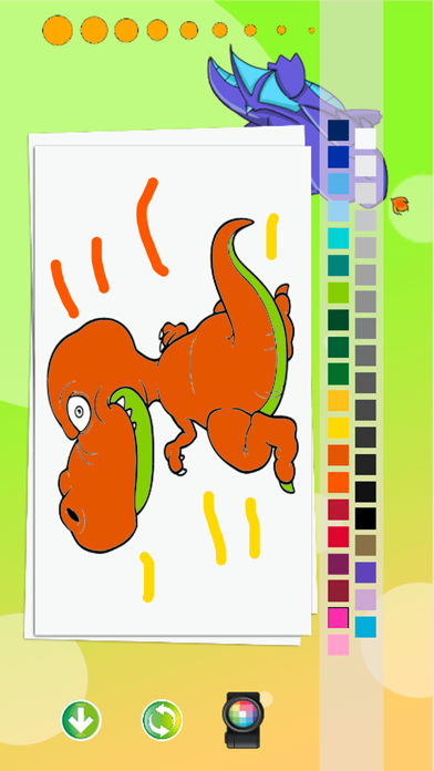 Little Dragon Coloring Pages Kids Painting Game screenshot four