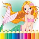 公主与美人鱼着色书 - 所有在1海绘图 icon
