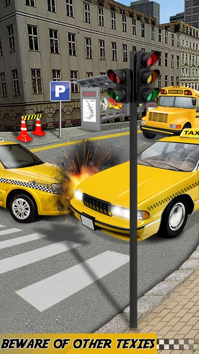 Yellow Taxi Driver Parking - Crazy Cab In New york City Traffic Simulator screenshot two
