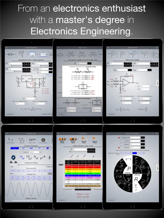 Electronics Engineering ToolKit PRO for iPad screenshot-1