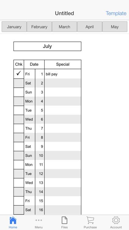 Monthly Check Register screenshot-3
