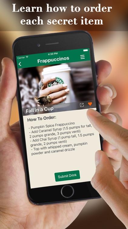 eXpresso Secret Menu for Starbucks - Coffee, Frappuccino, Macchiato, Tea, Cold & Hot Drinks Recipes