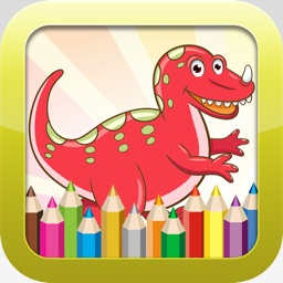 Dinosaur Coloring Book - Educational Coloring Games For kids and Toddlers