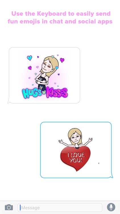 Blondemoji Keyboard - Emojis for cute Blondes screenshot-4