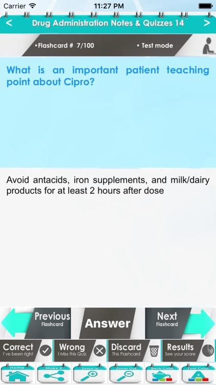 Drug Administration Course & Exam Review/ 2600 Flashcards - Quiz & Study Notes screenshot-4