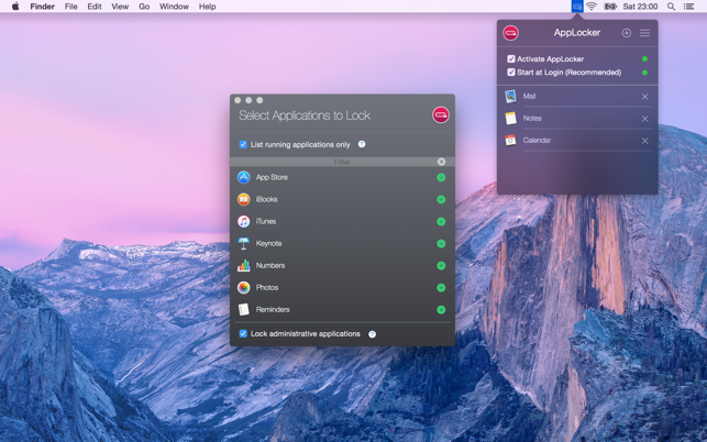 AppLocker (Password lock apps) on the Mac App Store