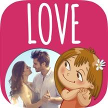 爱情相框照片编辑器(含浪漫英文情话情人节情书卡片制作)