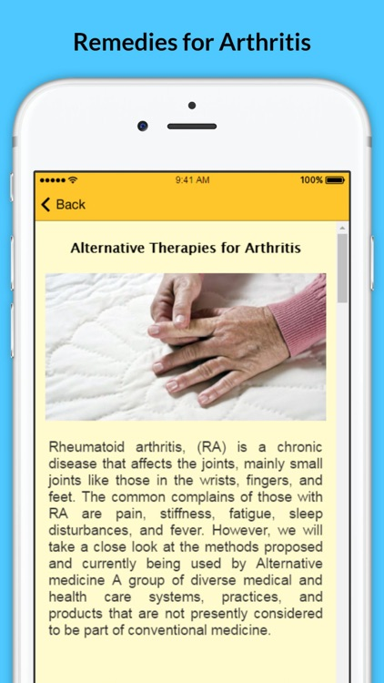 Arthritis - Signs of Arthritis and Natural Remedies screenshot-1