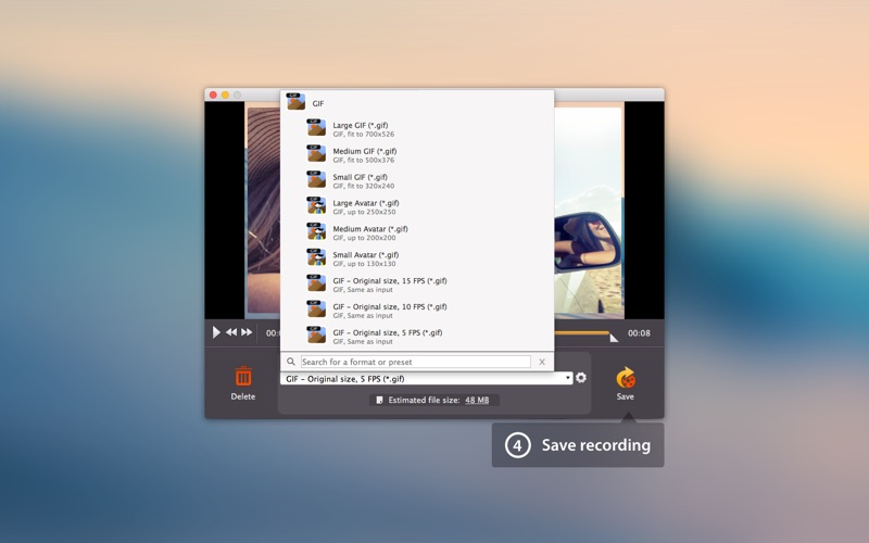 GIF Maker Movavi Screenshot