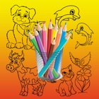Kids Coloring Book Cute Animal - Preschool Game Learning for Fun icon