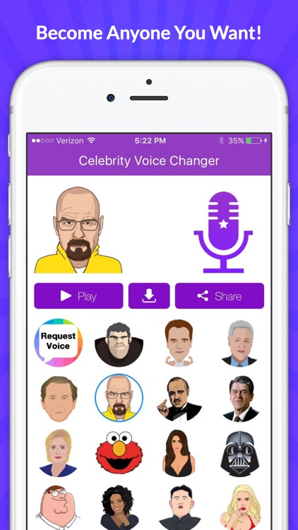 Celebrity Voice Changer - Funny Voice FX Cartoon Soundboard