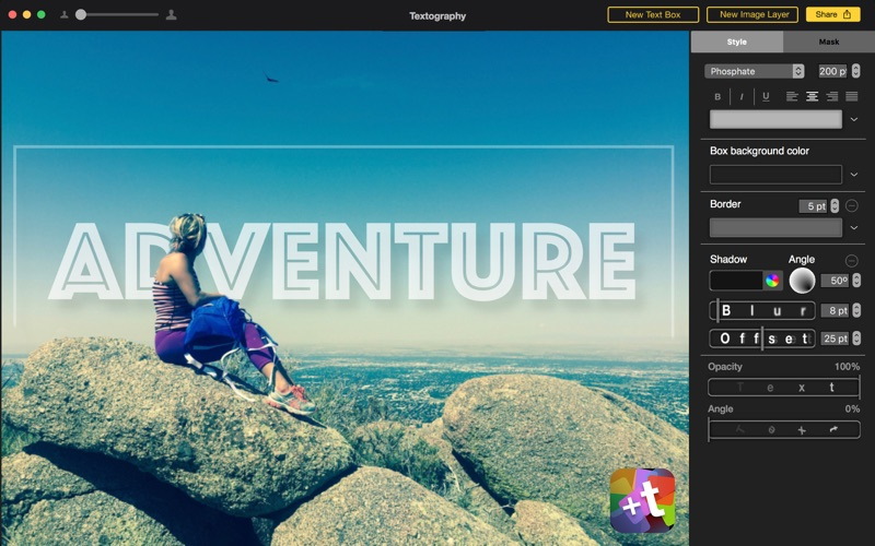 Textography: Typography + Text Fonts + Photo Effects for Photos скриншот программы 2