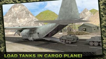 Ejército Carga Avión Vuelo Simulador: Transporte Guerra Tanque en Campo de batallaCaptura de pantalla de4