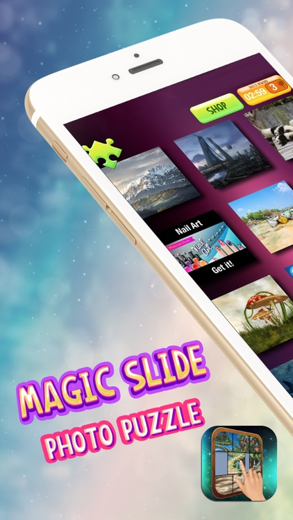 Magic Slide Photo Puzzle – Challenge Kids to Move & Match Tiles and Un-block The Picture.s